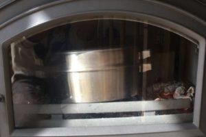 薪ストーブ 料理 ローストチキン 6