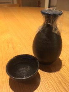 日本酒 銘柄 白木久 燗 徳利にラップ2