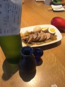 日本酒 銘柄 白木久 食事1