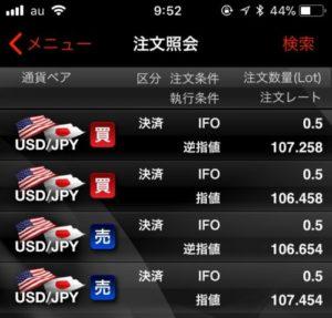 fx ドル円 OCO