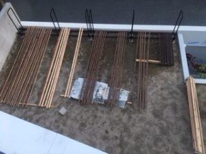 薪棚 diy 塗装