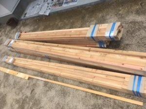 薪棚 diy 木材到着