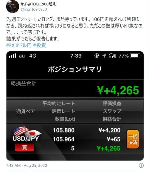 fx ドル円 tw