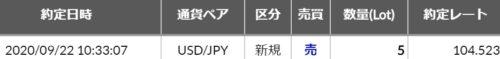 fx ドル円 エントリ1033