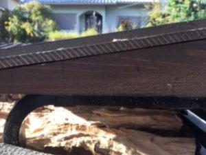 薪棚 屋根 勾配 骨組み横up